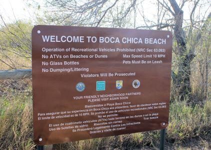 Boca Chica Beach sign