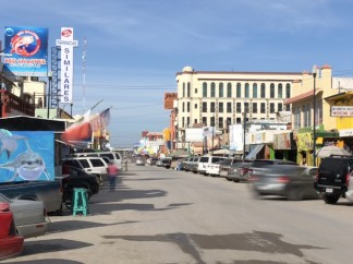 The main drag of Nuevo Progreso