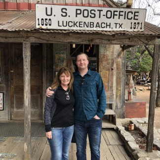 jan and Jason at Luckenbah, TX