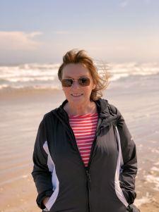 Jan on beach