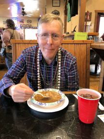 Phil and his gumbo at TJ's