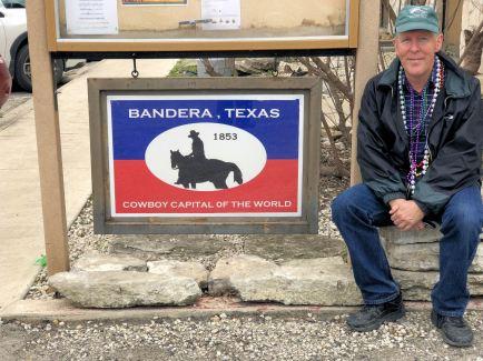 Phil at Badera sign