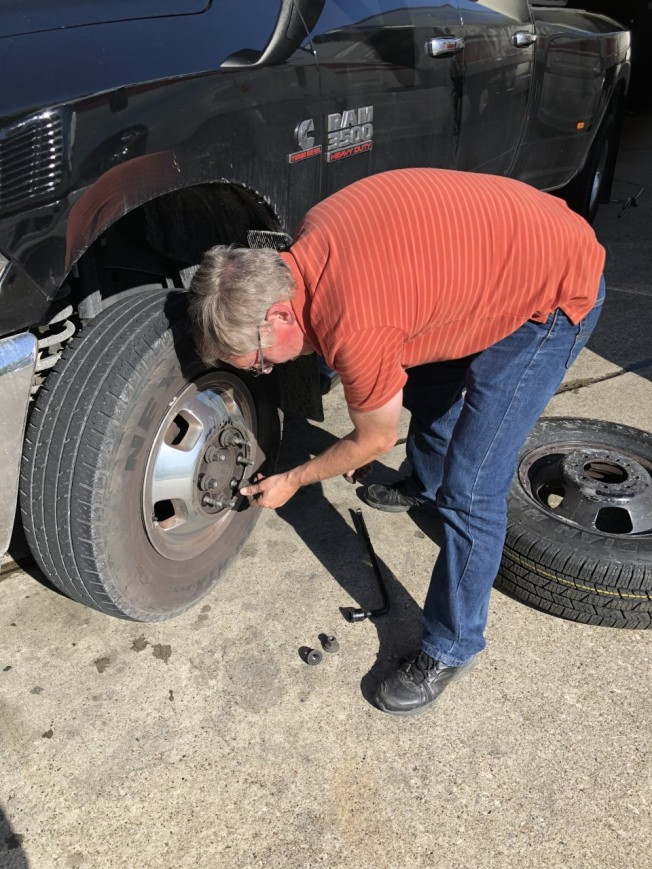 Removing the old tire