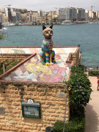 Cat Sculpture by Matthew Pandolfino at Independence Gardens in Silema