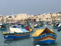 Fishing boats in Marsaxlokk fishing village