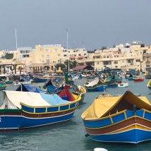 Fishing boats in Marsaxlokk fishing village