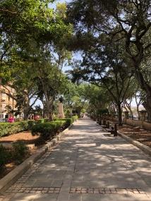 Park view in Valetta