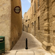 Narrow street in Mdina