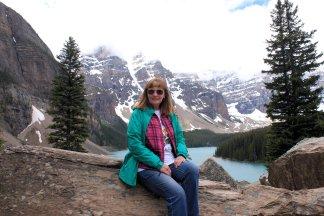 Jan overlooking lake