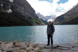Phil by bank of Lake Louise