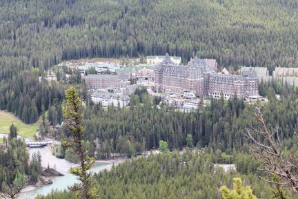 View of Fairmont Banff Springs from Tnnel Mountain