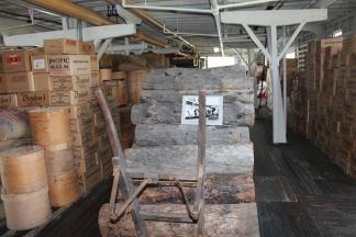 Wood and cargo loaded on SS Klondike