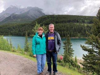 Jand and Phil at Lake Two Jacks