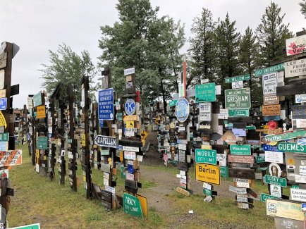 Another view of the Sign Post Forest