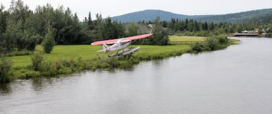 Bush pilot taking off