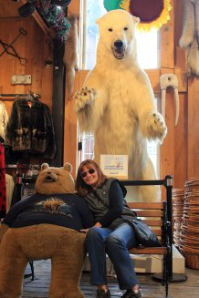 Jan with bear friends