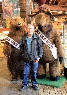 Phil with bear and moose friends