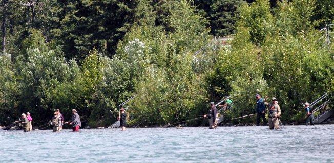 Fishermen on Russian River
