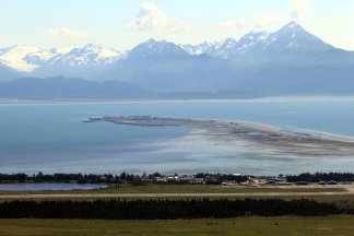 View of Homer Spit from East Hill Rd.