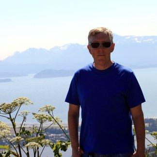 Phil overlooking Kachemak Bay