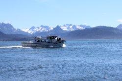 A passing fishing charter