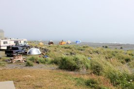 Campers on the spit