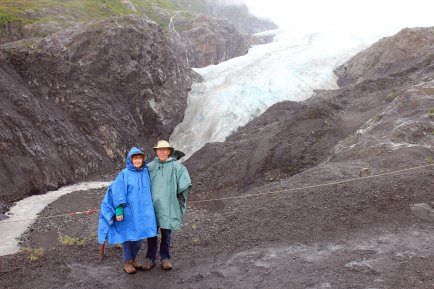 Jan and Phil at Exit Glacier terminus
