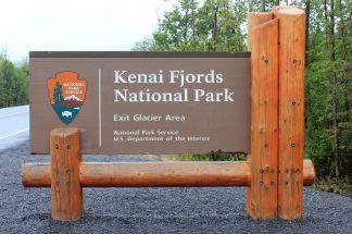 Kenai Fjords NP sign