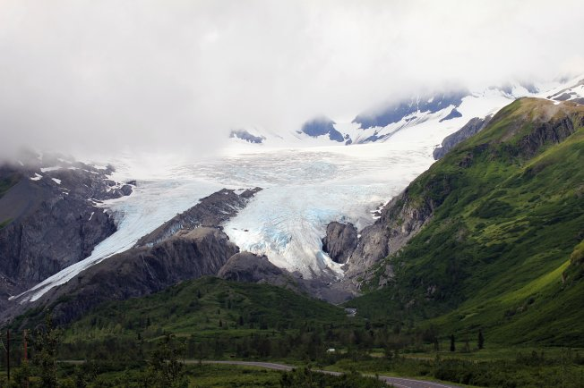 Worthington Glacier from highway