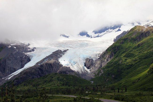 Worthington Glacier from highway