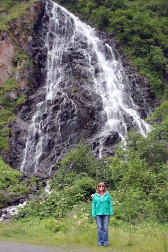 Jan at Horsetail Falls