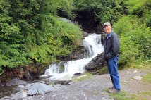 Phil by Crooked Creek waterfall