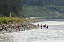 Fishermen at nearby Allison Point