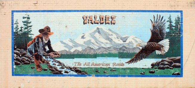 Valdez mural