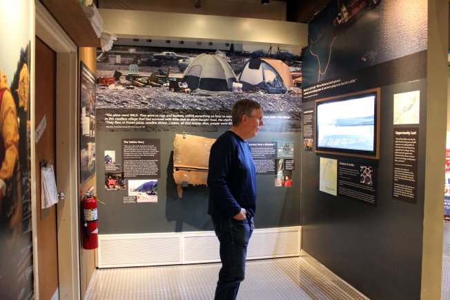Phil at Exxon Valdez exhibit