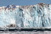 Glacier wall close-up