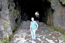 Phil in railroad tunnel