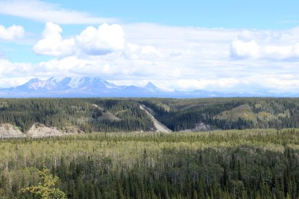 View from Wrangell-St. Elias NP Visitor Center
