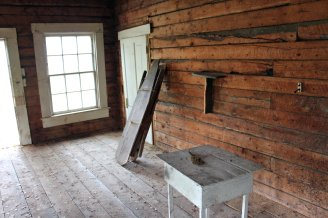 Anne Hobb's living spacewith door to schoolroom