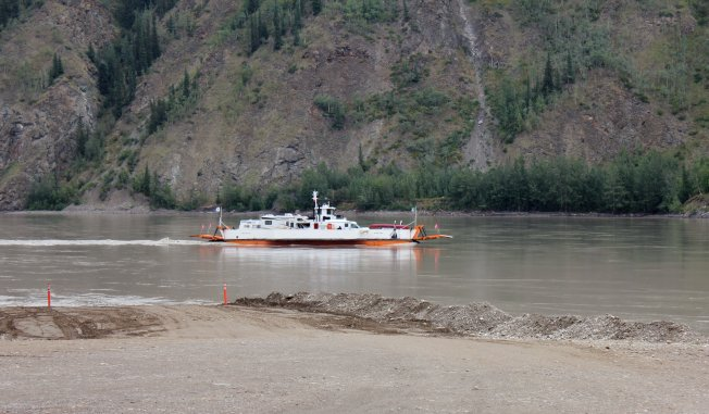 George Blace Ferry that took us across the Yukon River