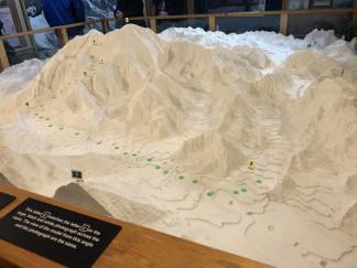 Scale model of Denali