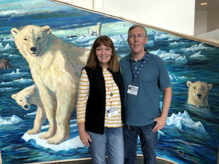 Jan and Phil with polar bear