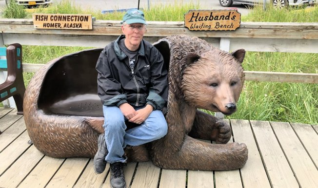 Phil on Husband's Waiting Bench