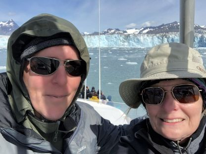 Phil and Jan at Columbia Glacier