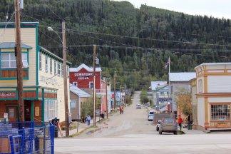 Downtown Dawson City street