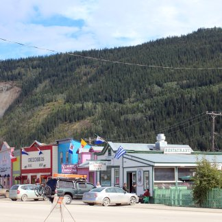 Downtown Dawson City street