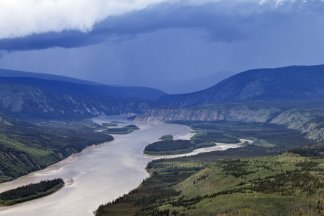 View of Yukon River from Midnight Dome