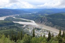View of Yukon River and Dawson City from Midngiht Dome