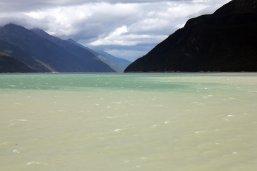 Glacier water meets ocean water