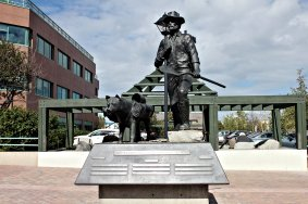 Prospector statue